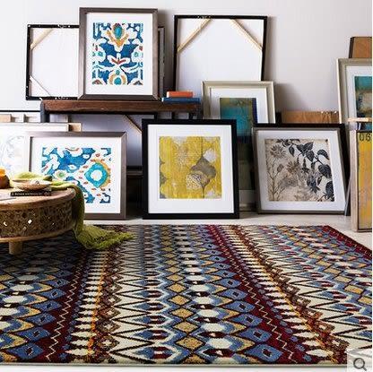簡約現代北歐客廳沙發茶几地毯臥室床邊滿鋪家用房間可機洗長方形