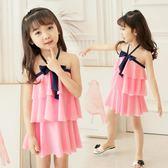 全館85折佑游兒童泳衣女孩中大童連體公主裙式可愛韓國防曬小孩女童游泳衣