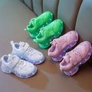 新款兒童老爹鞋男童春夏led七彩亮燈帶燈鞋usb充電閃燈女童發光鞋 滿天星