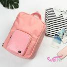 wei-ni 時尚創意可折疊行李桿後背包 可當行李桿掛袋 輕巧收納大容量萬用包 旅行包 單肩包 雙肩包