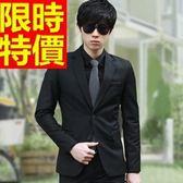成套西裝 包含西裝外套+褲子 男西服-上班族制服簡潔簡約焦點典型5色54o5[巴黎精品]