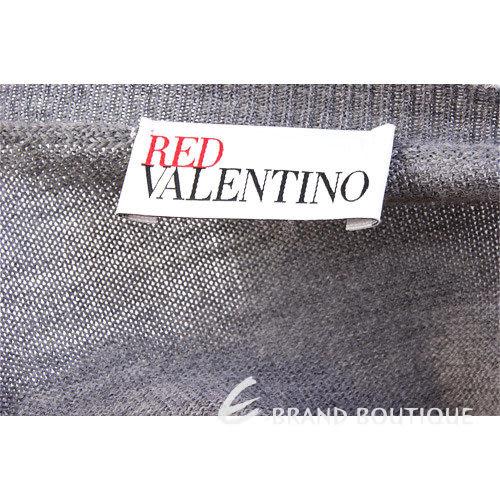 VALENTINO 灰色拼接蕾絲下襬上衣 1230427-06