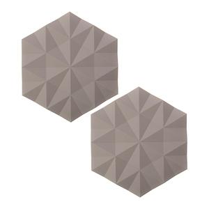 (組)2入丹麥ZONE FACET系列菱紋矽膠鍋墊-沙漠灰