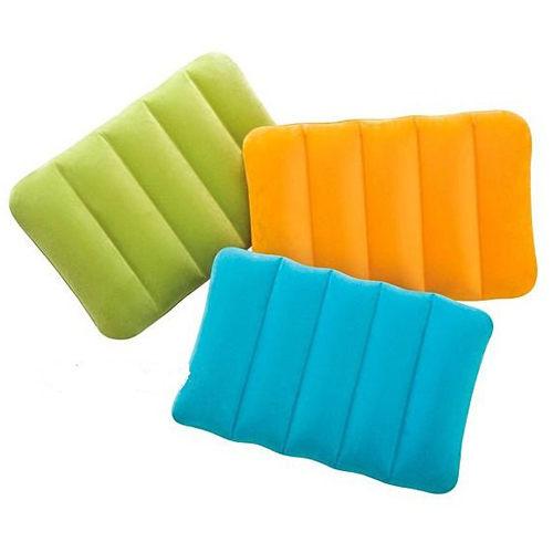 [衣林時尚] INTEX 充氣枕頭 充氣墊 靠墊 坐墊 43CM X 28CM X 9 CM 可清洗 68676 (今日促銷 顏色隨機)