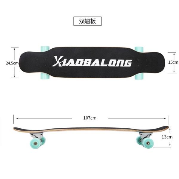 滑板 初學者滑板長板成人男生女生公路刷街舞板青少年少女四輪滑板車【快速出貨】