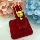 新款愛心金豬吊墜女久不掉色 鍍金仿黃金沙金項鏈 生肖本命年飾品