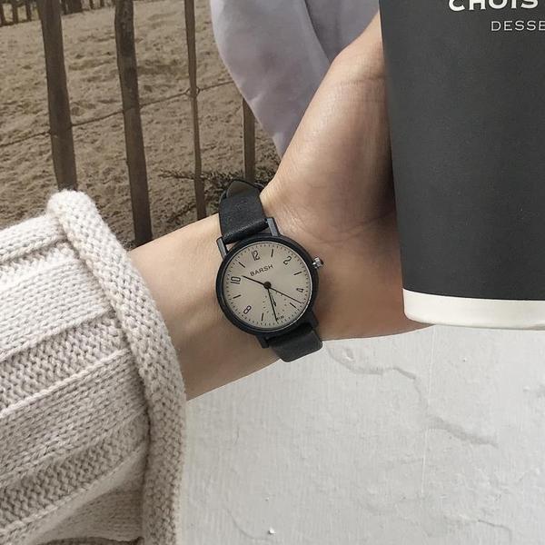 女生手錶 ins超火的手表女學生韓版簡約chic復古潮流小清新休閒百搭【快速出貨八折搶購】
