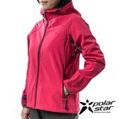 《網購獨賣款》PolarStar 女 Soft Shell保暖外套『桃紅』P19210 休閒│登山│機能│保暖外套│連帽外套