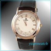 【萬年鐘錶】CYMA瑞士司馬錶 玫瑰金 超薄男皮錶 02-0460-004 24期零利率