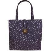 【南紡購物中心】agnes b.金漆點點帆布手提包(大/紫)