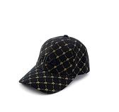 FILA 男女款 復古老花 棒球帽 黑色 HTV-5104-BK 【KAORACER】