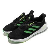 adidas 慢跑鞋 EQ21 Run J 黑 綠 路跑 BOUNCE 愛迪達 大童鞋 女鞋 【ACS】 GV9934