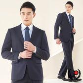 極品西服 經典紳士直條小劍領羊毛西裝_深藍(AS602-3G)
