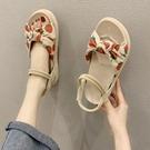 草莓涼鞋平跟女夏季新款仙女