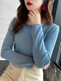 薄款毛衣 2020春秋冬新款針織打底衫女裝修身百搭上衣內搭長袖薄款【88折免運】
