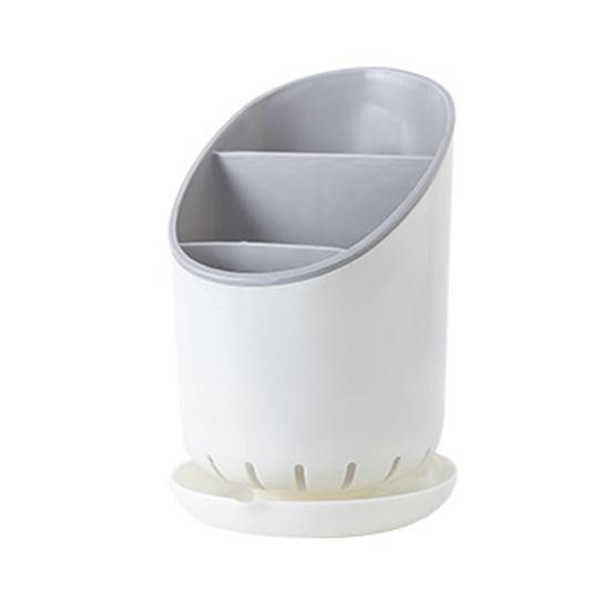 可拆卸瀝水收納桶 餐具 廚房 筷子 叉子 湯匙 勺子 瀝乾 乾燥 通風 台面【S22】MY COLOR