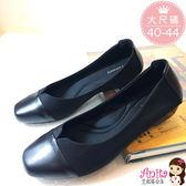 艾妮塔公主。中大尺碼女鞋。簡約時尚包鞋 娃娃鞋 共1色。(D507) 40 41 42 43 44碼