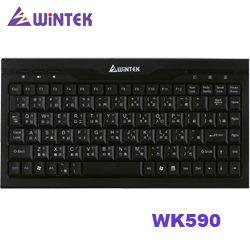 [富廉網] WINTEK 文鎧 WK590 USB迷你鍵盤 (黑色)