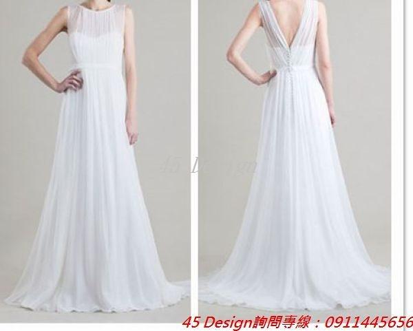 (45 Design) 訂做款式7天到貨 專業訂製款 大尺碼 定做顏色 新娘敬酒服晚宴宴會婚紗禮服 胖MM