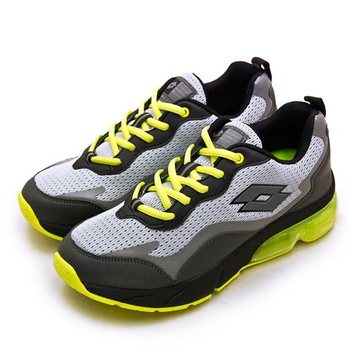 LIKA夢 LOTTO 專業避震氣墊慢跑鞋 FLOAT系列 灰黑綠 2185 男