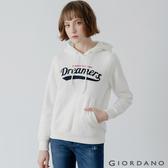 【GIORDANO】女裝 Dreamers系列復古風連帽T恤 - 01 皎白