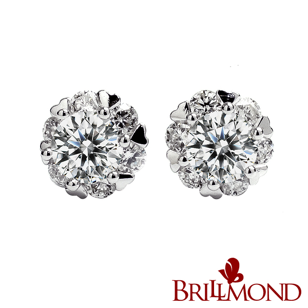 BRILLMOND 豪華閃亮GIA 50分鑽石耳環(D/SI2 18K白金)