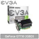 【免運費】EVGA 艾維克 GeForce GT730 2GB DDR3 顯示卡 02G-P3-1733-KR