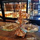歐式玻璃水果盤創意現代客廳個性家用北歐風格結婚過年干果多功能 一米陽光