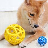 寵物玩具鏤空漏食橡膠網格球中號耐咬磨牙狗球 QW8849【衣好月圓】
