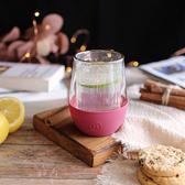 【HYDY】雙層玻璃蛋型杯 桑格莉亞-經典直條紋 (240ml)