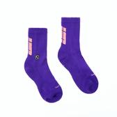 H2O LAB 螢光世代 紫 粉LOGO 中高筒襪 男女 19FW01PL