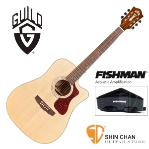 美國經典品牌 Guild D-140CE 可插電切角全單板吉他/標準D桶/Fishman拾音器 附原廠吉他袋