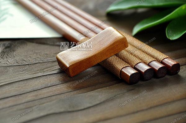 天然原木質日式綁線鐵刀(筷枕_一組兩入)