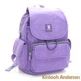 金安德森 極簡耀色 質感休閒抽繩後背包-薰衣草紫