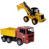 BRUDER MAN 卡車+堆土機組 #2752 (德國製造)