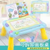 降價兩天-兒童畫畫板桌磁性寫字板寶寶玩具1-3歲2幼兒彩色大號涂鴉板可拆卸2色