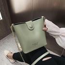 夏天上新小包包女2021新款潮高級感仙女斜挎包百搭鏈條水桶單肩包 「中秋節特惠」