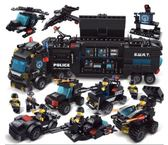 兼容積木男孩子6-8歲兒童益智拼裝城市7警察10軍事12玩具禮物HRYC【快速出貨】
