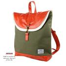 橄欖綠疊層後背包   AMINAH~【am-0273】