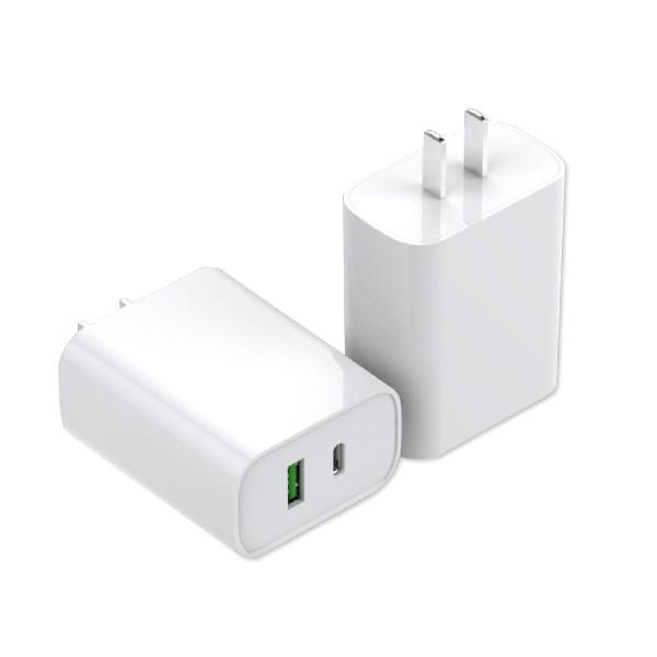充電頭 充電器 快充頭 旅充 豆腐頭 電源供應器 18W 兩用 QC快充 PD快充 type-c USB 快速充電