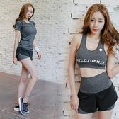 夏季新款瑜伽服女專業運動套裝短褲健身房跑步性感晨跑速干衣(滿1000元折150元)