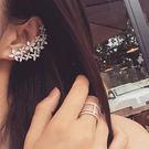 耳環 個性 寶石 花簇 不對稱 耳釘 耳環【DD101025】 BOBI  04/20