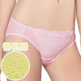 思薇爾-花伶系列M-XL蕾絲低腰三角內褲(楊桃綠)