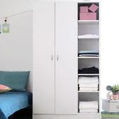 台灣製 雙門六層多功能收納組合衣櫥 置物架 置物櫃 【YV8619】HappyLife
