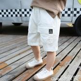 男童短褲夏裝薄款寬鬆潮童五分褲兒童夏季中褲寶寶韓版洋氣工裝褲 1件免運