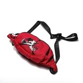 NIKE Jumpman Drawstring 紅 黑白LOGO 斜背包 腰包 (布魯克林) 9A0260-R78