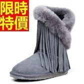 中筒雪靴-秋冬新款時尚流蘇皮革女靴子5色62p12【巴黎精品】