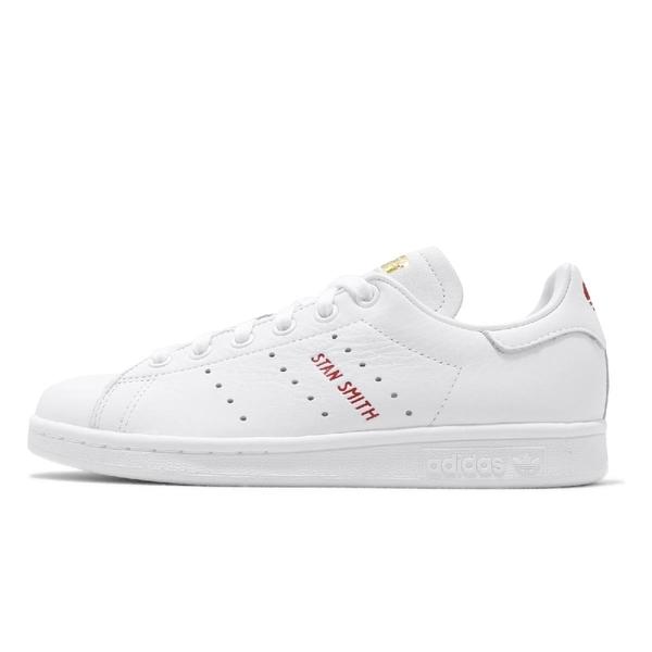 【六折特賣】adidas 休閒鞋 Stan Smith 白 紅 女鞋 運動鞋 情人節 愛心 【ACS】 FV8260