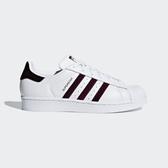 Adidas Originals Superstar W [G26000] 女鞋 運動 休閒 經典 白 酒紅 愛迪達