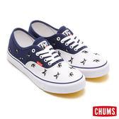 【絕版4折出清】CHUMS 日本 atmos 聯名款 限量帆布鞋 白/深藍 CH631002Z010